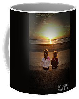 Sunset Girls Coffee Mug by Lynn Bolt