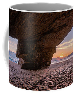 Coffee Mug featuring the photograph Sunset Grotto On Praia Do Beliche by Dmytro Korol
