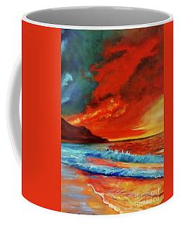 Sunset Hawaii Coffee Mug by Jenny Lee