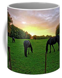 Sunset Horses Coffee Mug