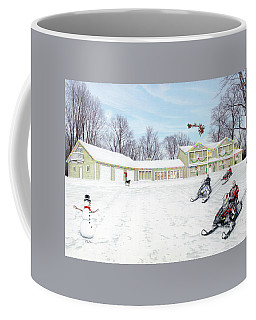 Sunset House At Christmas Coffee Mug by Albert Puskaric