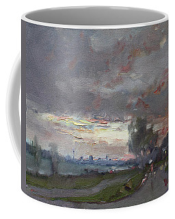 Sunset In A Rainy Day Coffee Mug