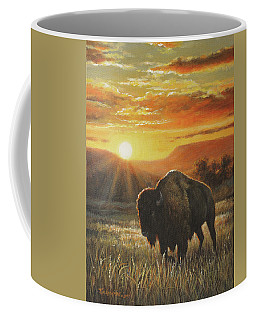 Sunset In Bison Country Coffee Mug by Kim Lockman