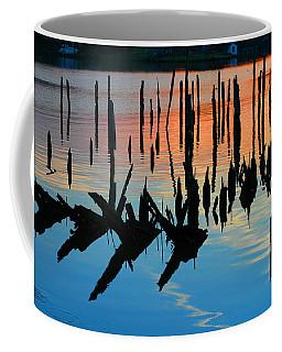 Sunset In Colonial Beach Virginia Coffee Mug
