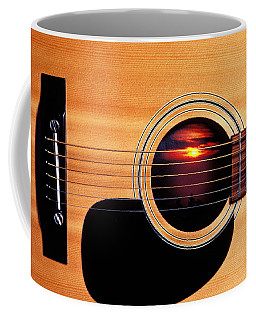 Sunset In Guitar Coffee Mug