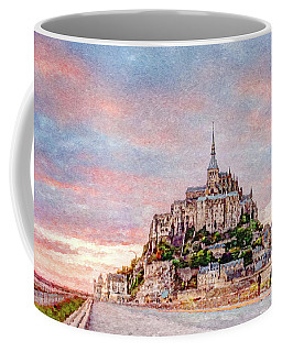 Sunset In Mont Saint Michel Coffee Mug