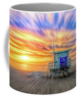 Coffee Mug featuring the photograph Sunset In Motion by Michael Hope
