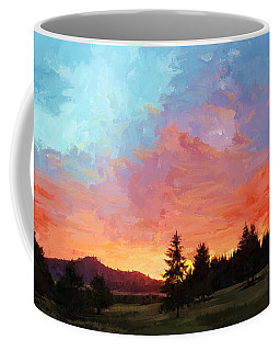 Sunset In Oregon Coffee Mug