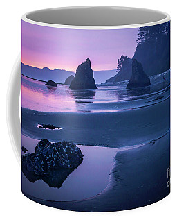 Sunset In Ruby Beach Coffee Mug