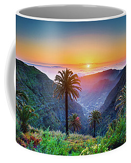 Sunset In The Canary Islands Coffee Mug by JR Photography