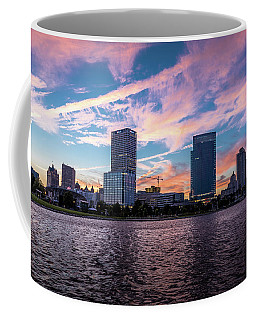 Coffee Mug featuring the photograph Sunset In The City by Randy Scherkenbach