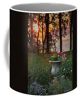 Sunset In The Flowers Coffee Mug