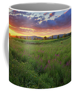 Coffee Mug featuring the photograph Sunset In The Hills 2017 by Bill Wakeley