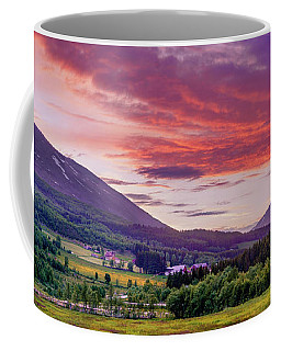Coffee Mug featuring the photograph Sunset In The Meadow by Dmytro Korol