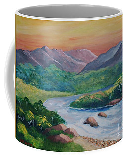 Sunset In The River Coffee Mug