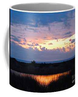 Sunset In The River Sea Beyond Coffee Mug