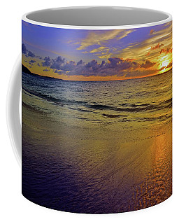 Coffee Mug featuring the photograph Sunset In The Sand by Tara Turner