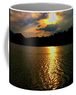 Coffee Mug featuring the digital art Sunset In The Smoky Mountains 1 by Chris Flees