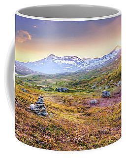 Coffee Mug featuring the photograph Sunset In Tundra by Dmytro Korol