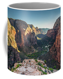 Sunset In Zion National Park Coffee Mug by JR Photography
