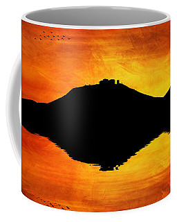 Coffee Mug featuring the digital art Sunset Island by Ian Mitchell
