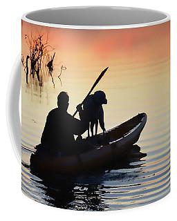 Sunset Kayaker Coffee Mug by Greg Jackson