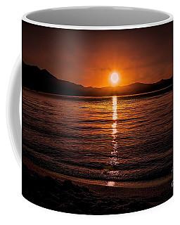 Sunset Lake 810pm Textured Coffee Mug