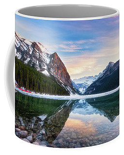 Sunset Lake Louise Coffee Mug