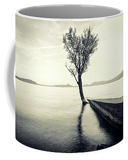 Sunset Landscape With A Tree In The Background Immersed In The L Coffee Mug