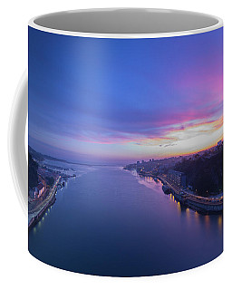 Sunset Looking From A Bridge Coffee Mug