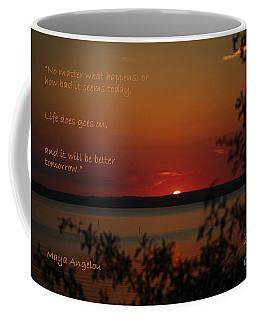 Sunset - Maya Angelou Quote Art Print Coffee Mug
