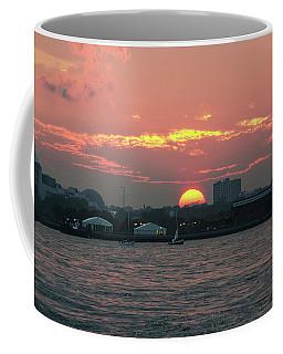 Sunset Nyc Harbor Coffee Mug