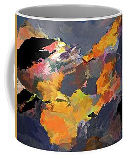 Coffee Mug featuring the mixed media Sunset Of The Gods 4 by Lynda Lehmann