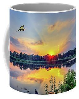 Sunset On A Chesapeake Bay Pond Coffee Mug