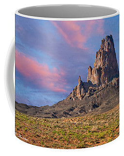 Sunset On Agathla Peak Coffee Mug by Jeff Goulden