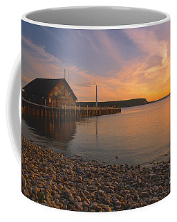 Sunset On Anderson's Dock - Door County Coffee Mug