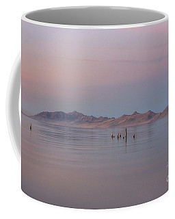 Coffee Mug featuring the photograph Sunset On Antelope Island by Spencer Baugh