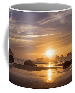 Sunset On Bandon Beach Coffee Mug