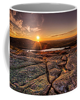 Sunset On Cadillac Mountain Coffee Mug