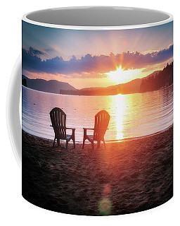 Sunset On Fourth Lake Coffee Mug