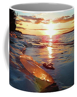 Sunset On Ice Coffee Mug
