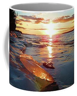 Sunset On Ice Coffee Mug