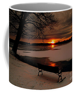 Sunset On Lake Quanapowitt Coffee Mug