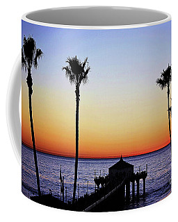 Sunset On Manhattan Beach Pier Coffee Mug