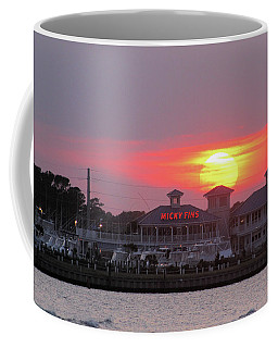 Sunset On Micky Fins Coffee Mug