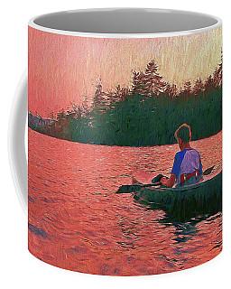 Sunset On Parker Pond Coffee Mug by Joy Nichols
