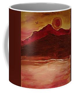 Sunset On Red Mountain Coffee Mug