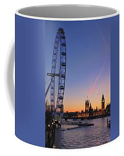 Sunset On River Thames Coffee Mug