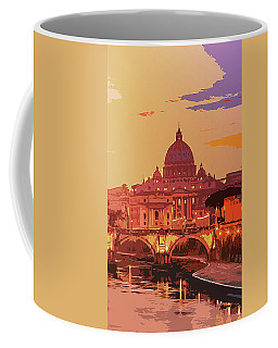 Sunset On Rome The Eternal City Coffee Mug