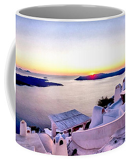 Sunset On Santorini Coffee Mug